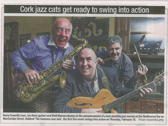 18/02/16 – The Shelbourne Bar – Cork, Co. Cork – The Guinness Jazz Jam